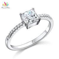 1 CARAT PRINCESS CUT SIMULATED DIAMOND STERLING 925 SILVER ENGAGEMENT RING CFR8024