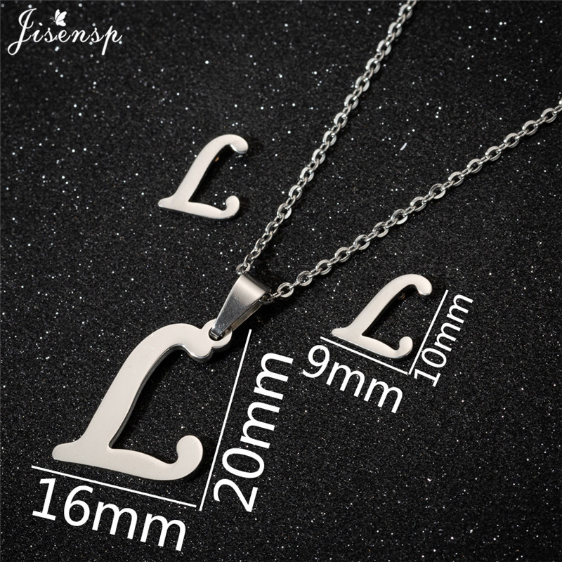 Jisensp Personalized A-Z Letter Alphabet Pendant Necklace Gold Chain Initial Necklaces Charms for Women Jewelry Dropshipping 24