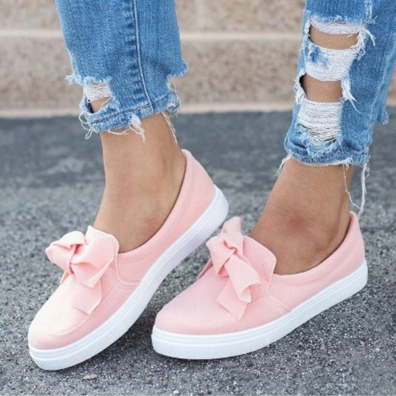 Ballet flats bow tie shoes woman loafers slip-on ladies flat casual sneakers shoes women plus size 42 43 platform shoes все цены