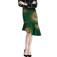 African Women Slanted Fish Tail Skirt Design Fishtail Skirt Women Fashion Skirts Dashiki Element Africa Clothing