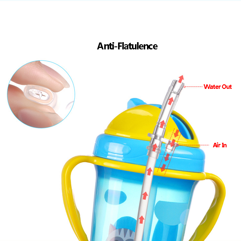 BPA Free New Baby Training Cup Infant Leak-Proof Cute Drinker Toddler Anti-fall Handle Bottles Kid Healthy Drink Kettle MY0052 (6)