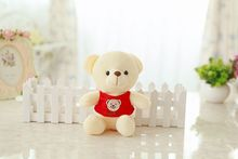 12 piece a lot small cute plush teddy bear toys red vest bear dolls gift about 20cm