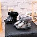 Invierno de los niños botas de nieve niñas zapatos con rivet botines de piel de invierno para niñas niños botas niños botas