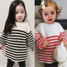 Фотография ANKRT  Baby girls Boys Sweater Toddler Boy Jumper Knitwear Striped Long-Sleeve Warm Pullover Children