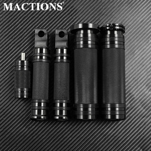 Image 1 - MACTIONS CNC Handle Bar Grips+Footrest Foot Pegs+Shifter Nail For Harley Sportster 883 Touring Dyna Breakout Softail Custom