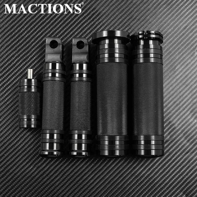 MACTIONS CNC Handle Bar Grips+Footrest Foot Pegs+Shifter Nail For Harley Sportster 883 Touring Dyna Breakout Softail Custom