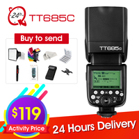 Godox TT685 TT685C Speedlite High Speed Sync External TTL For Canon Flash 1100D 1000D 7D 6D 60D 50D 600D 500D + 6 Gift Kit