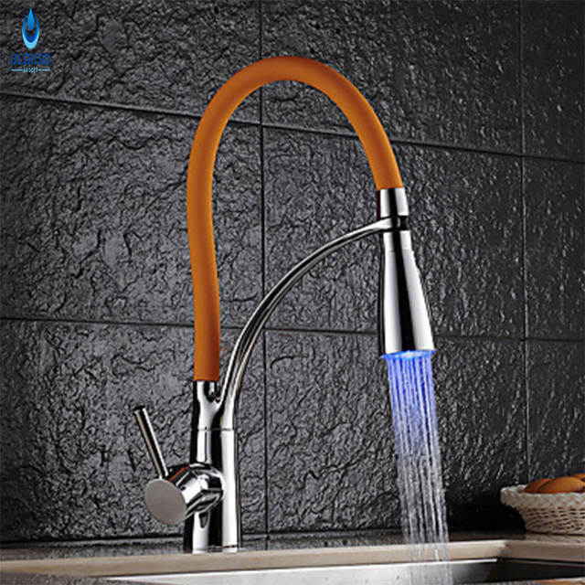 Ulgksd Wholesale And Retai Copper Kitchen Faucet Chrome Spring Style