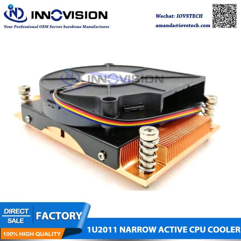 1u LGA2011 narrow 94*56mm server cpu cooler heatsink radiator suitable for intel Xeon E5-2600 E5-4600 Series cpu