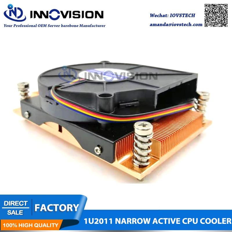 1u LGA2011 narrow 94*56mm server cpu cooler heatsink radiator suitable for intel Xeon E5-2600 E5-4600 Series cpu(China)