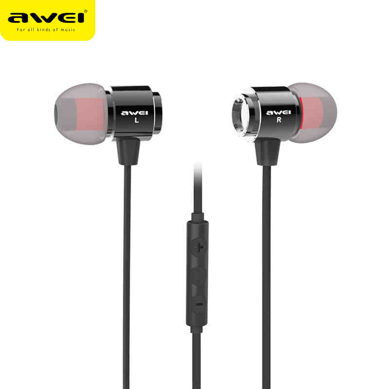 100% Awei S10HI 3.5mm In-ear Earphone Mobile Phone Earbud For Phone Earphones With Microphone Noodle Cable awei headset headphone in ear earphone for your in ear phone bud iphone samsung player smartphone earpiece earbud microphone mic