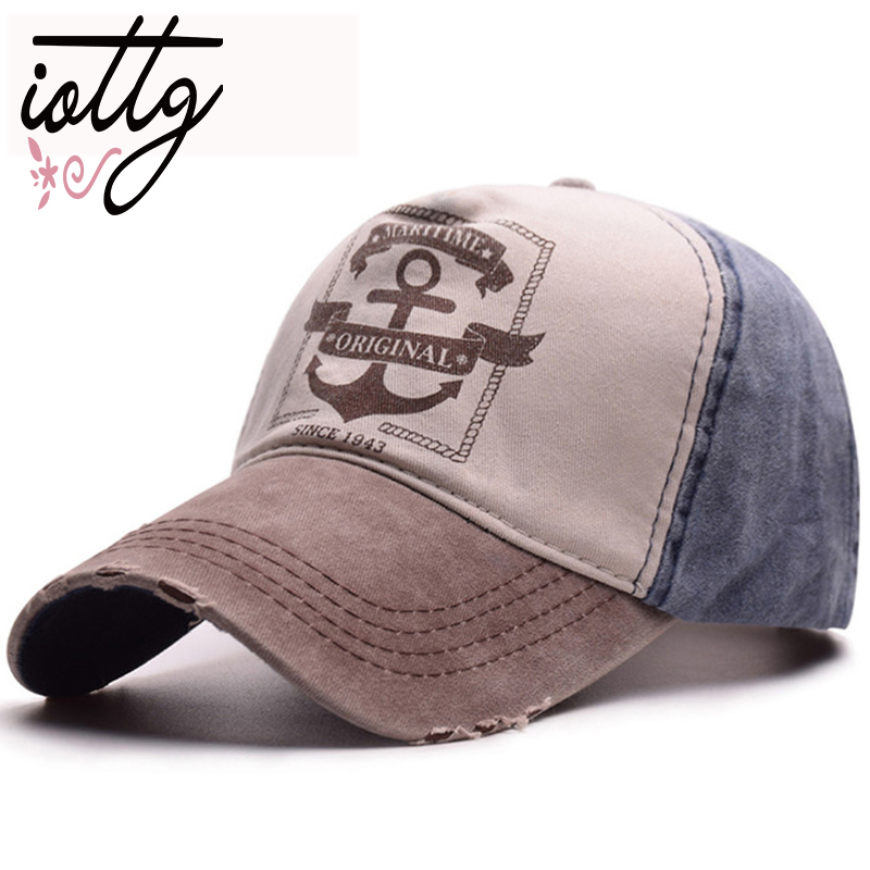 IOTTG Vintage Fashion Baseball Cap MARITIME ORIGINAL Letters Embroidery Hats Men Women Outdoor Washed Baseball Hats Dad Cap baseball cap