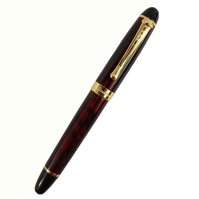 Jinhao Luxury M Nib 18KGP Fountain Pen Spider red