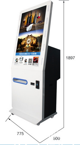 Event Photo Printer Hastag Social Media Advertising Photo Booth Self Service Instant Photo Printing Kiosk