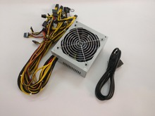 YUNHUI Sell ETH ZCASH SC MINER Gold POWER 1800W BTC power supply for RX 470 /570 RX480/580 6 GPU CARDS