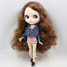 ICY Neo Blythe Doll Brown Side Part Hair Jointed Body 30cm