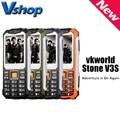 Teclado russa vkworld pedra v3s 2.4 polegada dropproof à prova d' água à prova de poeira telefone móvel dual led light fm dual sim cell phone