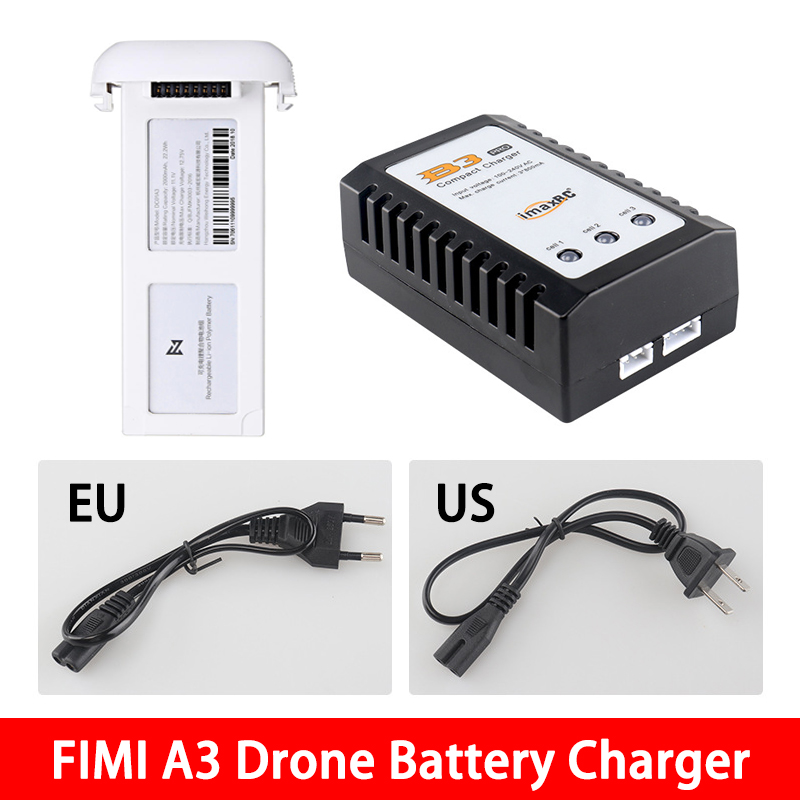 IN STOCK! FIMI A3 Drone LiPo Battery Charger & Adaptor RC Quadcopter Spare Parts Accessories 2S/3S LiPo HV Charging Tool