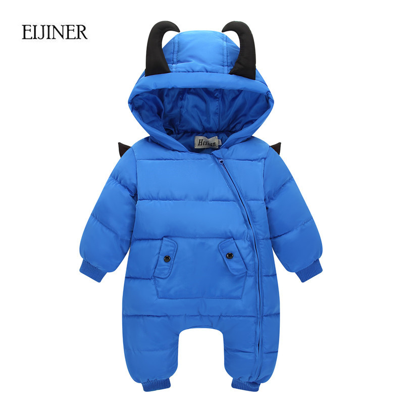 Little Devil Baby Rompers Winter Boys Costume Girls Warm Infant Snowsuit Kid Jumpsuit Children Outerwear Newborn Baby Clothing mioigee 2017 new down baby rompers winter outdoor boy costume girls warm infant snowsuit kid jumpsuit children romper clothing