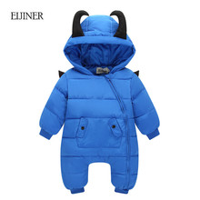 Little Devil Baby Rompers Winter Boys Costume Girls Warm Infant Snowsuit Kid Jumpsuit Children Outerwear Newborn Baby Clothing