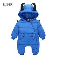 Little Devil Baby Rompers Winter Boys Costume Girls Warm Infant Snowsuit Kid Jumpsuit Children Outerwear Newborn