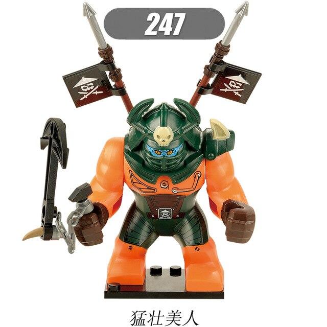 30Pcs Super Heroes Movie Ninja Fierce Beauty Lady Dogshank Jay Zane Lloyd Building Blocks Bricks Toys
