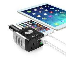 BESTEK 150 Вт Инвертор 12 В До 110 В Конвертер 3.1A Dual USB автомобильное Зарядное Устройство DC Адаптер 12 В В ПЕРЕМЕННОЕ 110 В Auto Power Inverter Adapte