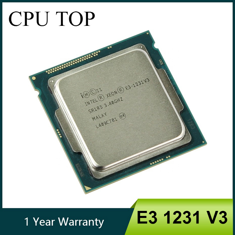 Intel processador xeon e3 1231 v3 3.4ghz, processador quad-core lga 1150, cpu de mesa E3-1231 v3