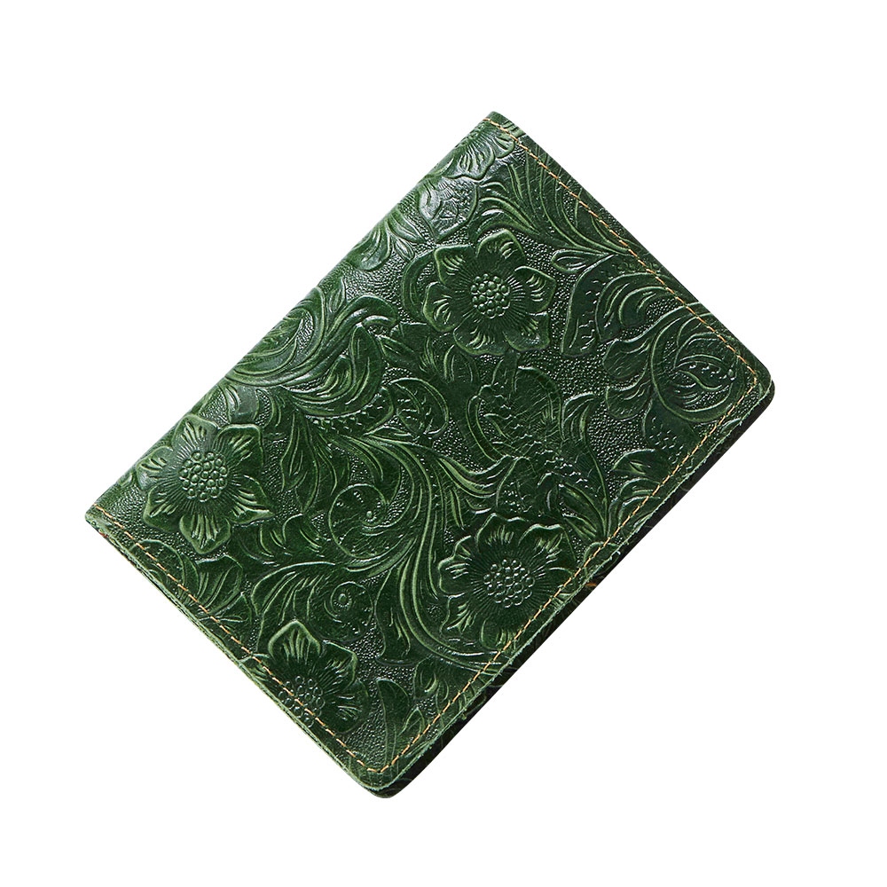 K018-Women Passport Cover Purse-Green-03(6)
