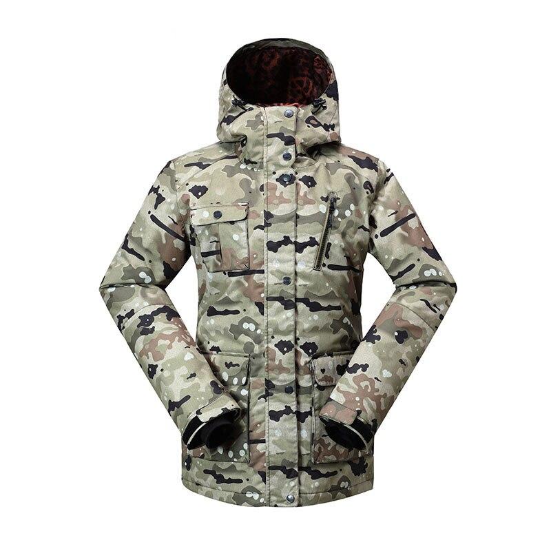 Véritable GSOU neige dame Ski costume imperméable coupe-vent respirant chaud Double planche simple Ski veste Ski coton vêtements taille XS-L