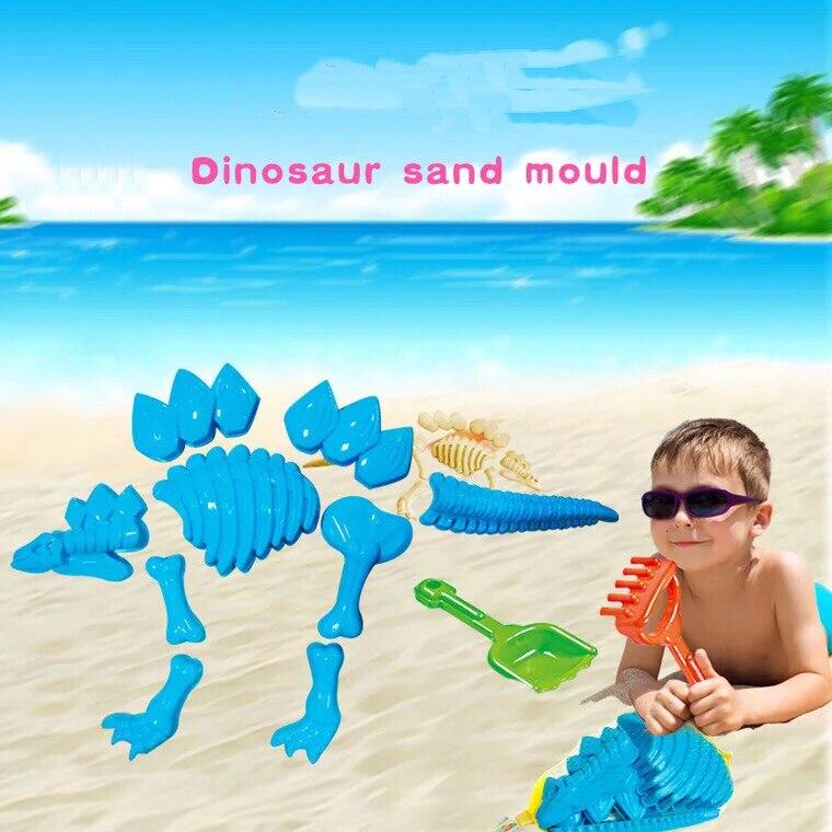 Funny Dinosaur Skeleton Bone Sand Mold Sets For Kids Baby Summer Beach Toys