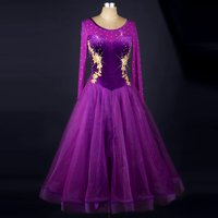 Black modern dance costume national standard dress Waltz dress
