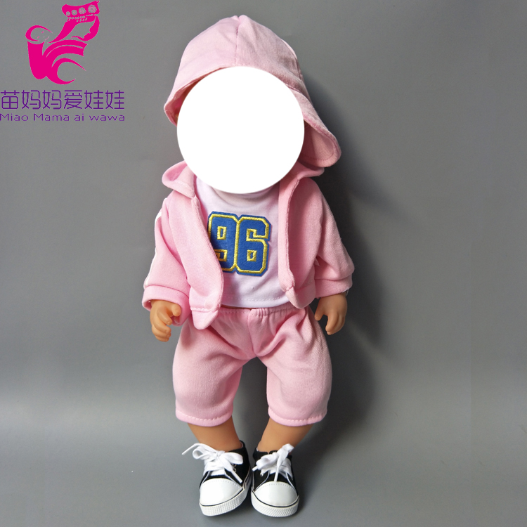 4 in 1 a set Green Hooded Coat outwear short pants shirt fit for 43cm Baby Dolls boy Clothes for 18 inch doll suit in Dolls Accessories from Toys Hobbies