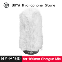 BY P160 Fur Windscreen Furry Windshield Muff for Shotgun Capacitor Microphone Wind Shield Protection Outdoor Interview Mic Foam
