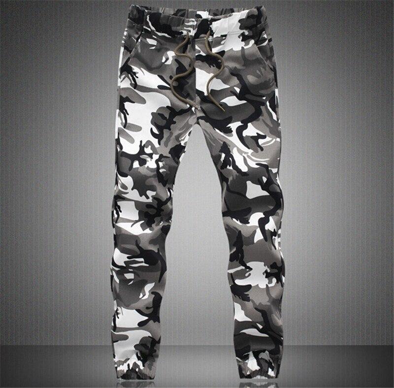 Мужские брюки для бега Осенние новые мужские камуфляжные брюки шаровары Повседневные мужские брюки для хип-хопа - Цвет: White camouflage