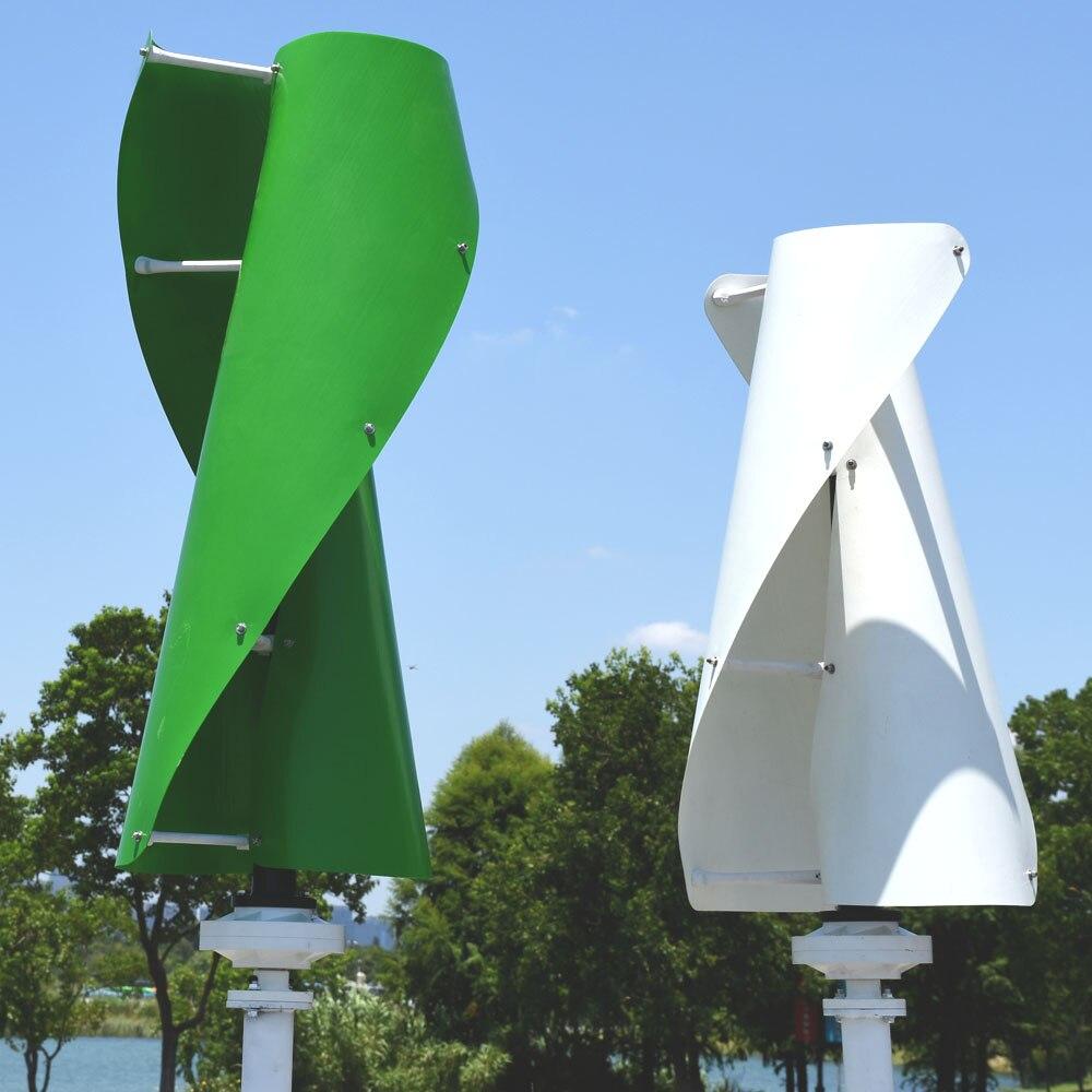 Générateur de vent en spirale multicolore 12v 24v sans contrôleur automatique MPPT d'éolienne verticale 200w