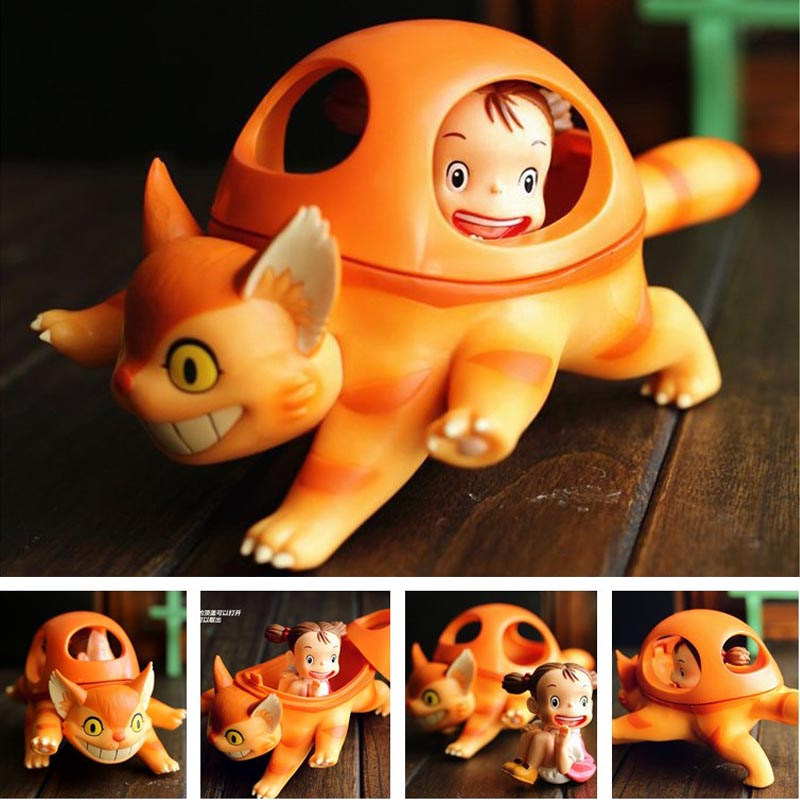 Japan Anime Cartoon Lovely Totoro Mei and The Kitten Bus PVC Figure Collectible Model Toy Holiday gifts Boxed Free shipping коврик для ванной xin tong mei dtxy 1 pvc