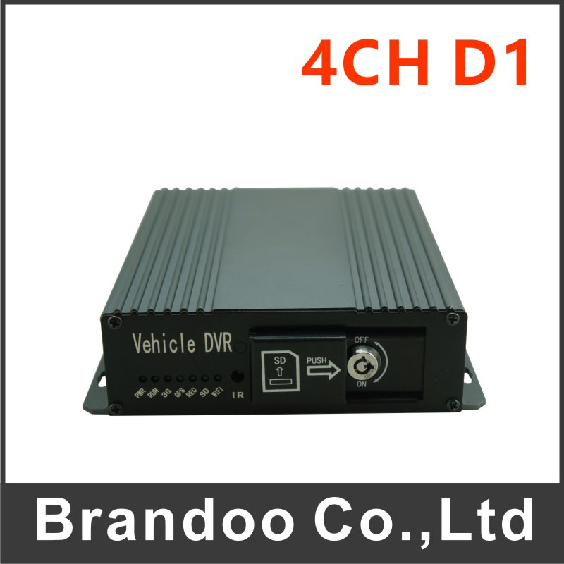 Free shipping 4 channel Car DVR, for bus, taxi, school bus, trainning car used, BD-326, from Brandoo gps function car dvr 4ch 720p car dvr for bus taxi truck vans