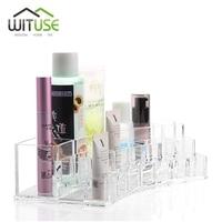 WITUSE NEUE TOP HOT Acryl Make-Up Veranstalter Transparent Schreibtisch Kosmetik Make-Up Veranstalter Aufbewahrungsbox Lippenstift Pinsel Halter EQC359