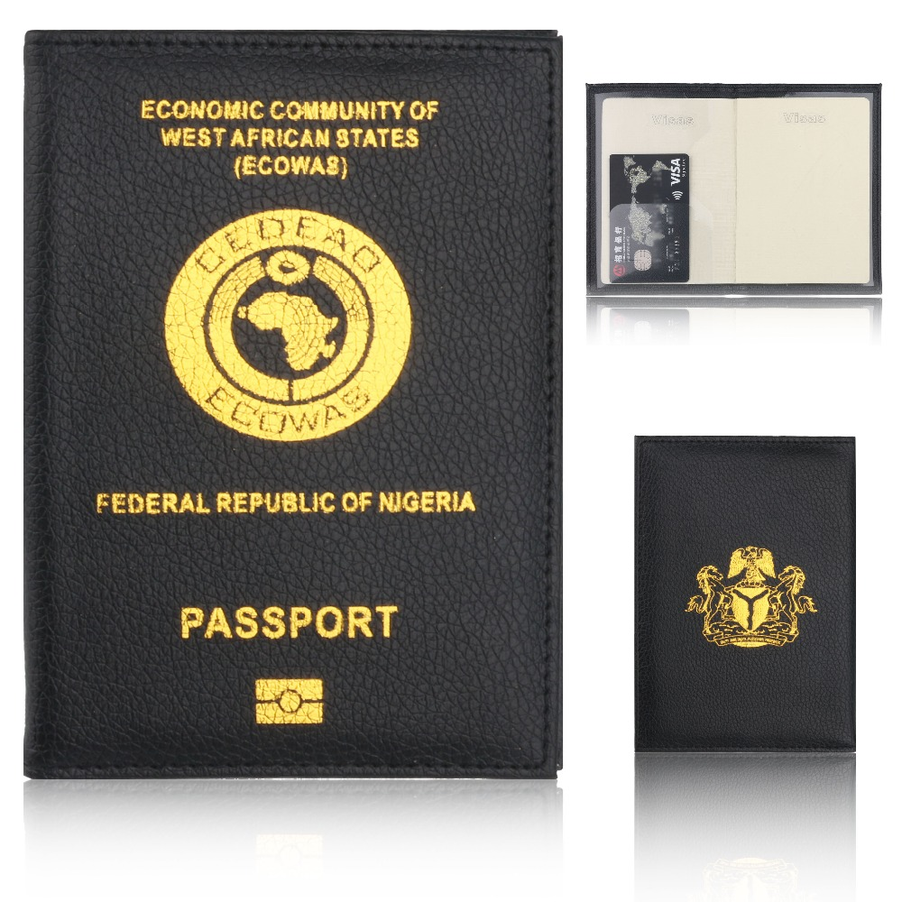 b83cb83fdf6 Detail Feedback Questions about TRASSORY Litchi Pattern ECOWAS Federal  Republic of Nigeria Travel Leather Passport Cover Holder Case for Men Women  on ...