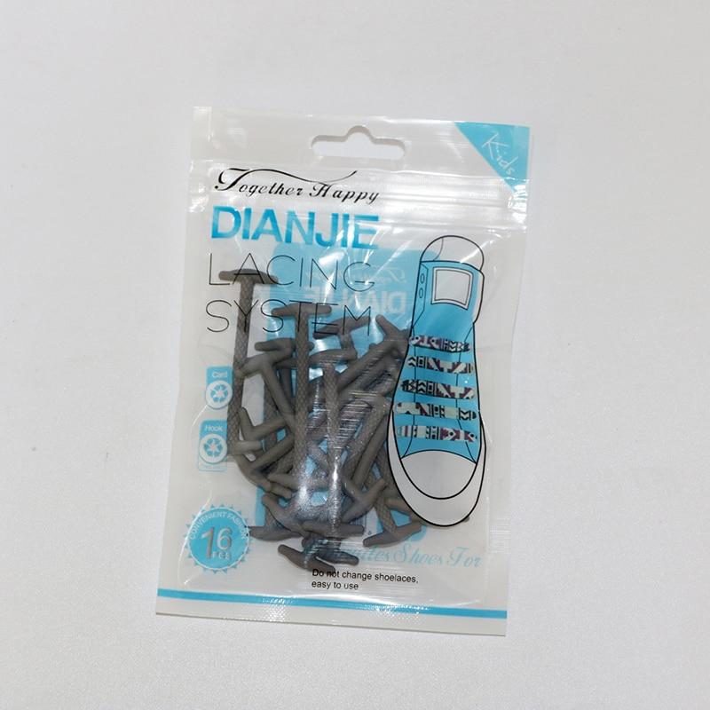 10Pcs / Set 5cm No Tie Shoes, kişilər üçün elastik silikon dəri - Ayaqqabı aksesuarları - Fotoqrafiya 3