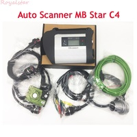 A+++ quality obd2 device MB STAR C4 with V2018.07 HDD Auto diagnostic scanner tool Mb star C4 for car/ truck ready to use