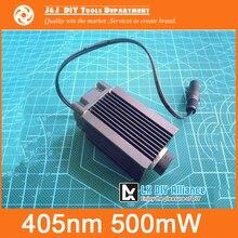 500 mW 12 V Módulos de Láser de Alta potencia, 405nm Azul-violeta de Luz, puede ajustar el enfoque, se utiliza para el BRICOLAJE Láser Máquina de Grabado
