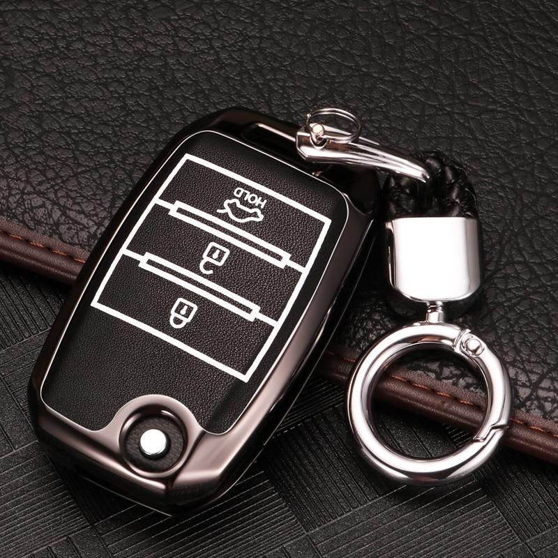 Zinc Alloy+Luminous Car Remote Key Case Cover For Kia Rio Sportage 2017 2018 2019 Ceed Optima Sorento Cerato Picanto Accessories