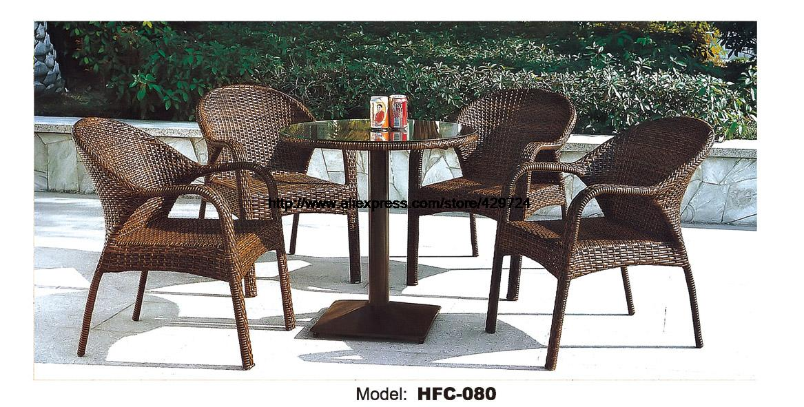 rattan table and chairs on wheels balcony furniture set small yard garden aeproduct getsubject