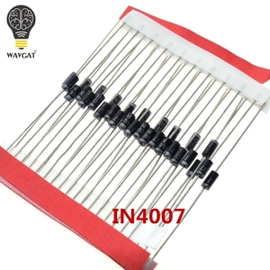 100PCS 1A 1000V Diode 1N4007 IN4007 DO-41 IN4001 50V IN4002 100V IN4003 200V IN4004 400V PLASTIC SILICON RECTIFIER IN4148