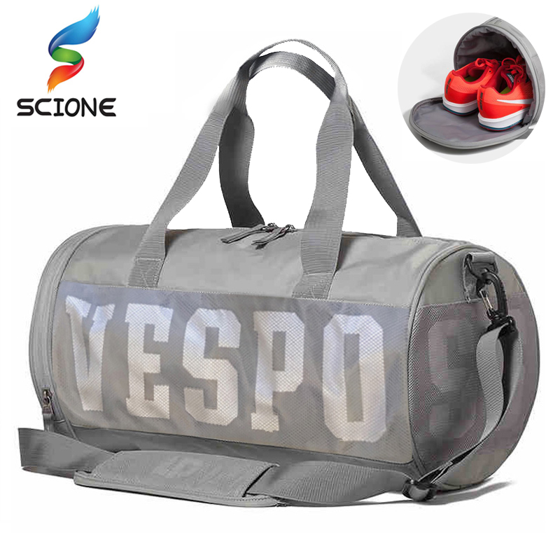 Outdoor Hot Men Sports Gym Bags New Wet Dry Separation Mesh Yoga Fitness  Shoulder Bag Women Travel Handbag Training Duffle Bag