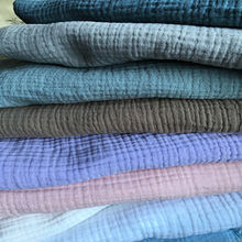 Natural 100% Cotton double Gauze Soft Fabric 140 cm 55'' width 125 gsm baby blanket sewing fabric 500 meters wholesale CD02