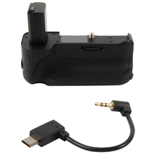где купить Battery Handle Hand Grip Holder Pack Vertical Multi Power Shutter For Sony Alpha A6500 Dslr Digital Slr Camera Mini Usb Charge дешево