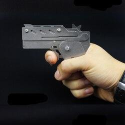 Paslanmaz çelik malzeme yangın lastik bant tabancası açık spor Lazer kesim işlemi kalitesi çok iyi Çoklu renkler